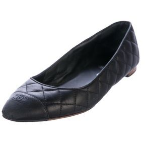 CHANEL Quilted Leather Ballerina Flats #timeless
